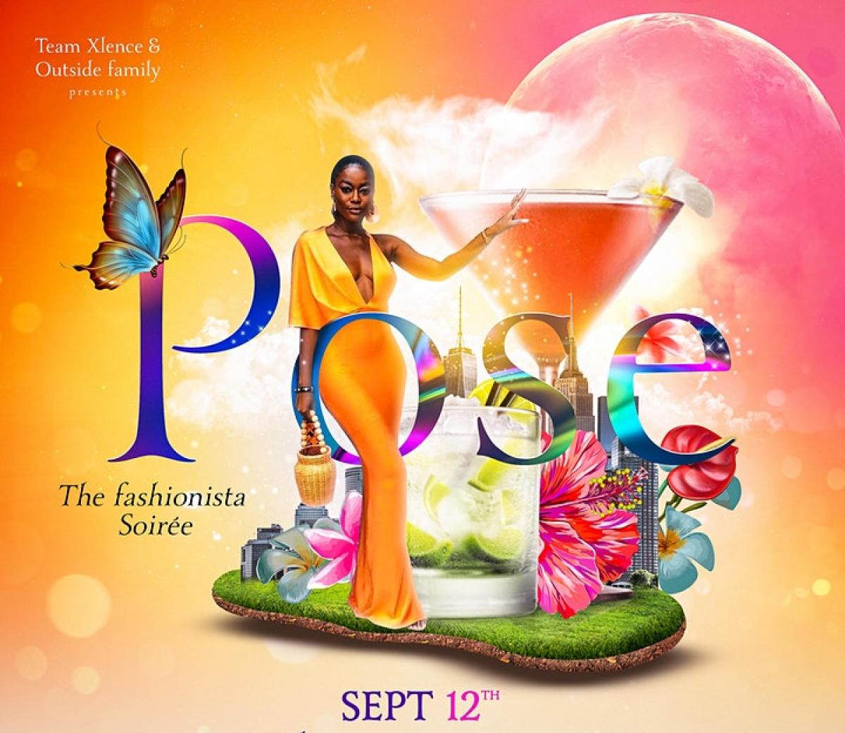 Pose: The Fashion Soiree flyer or graphic.