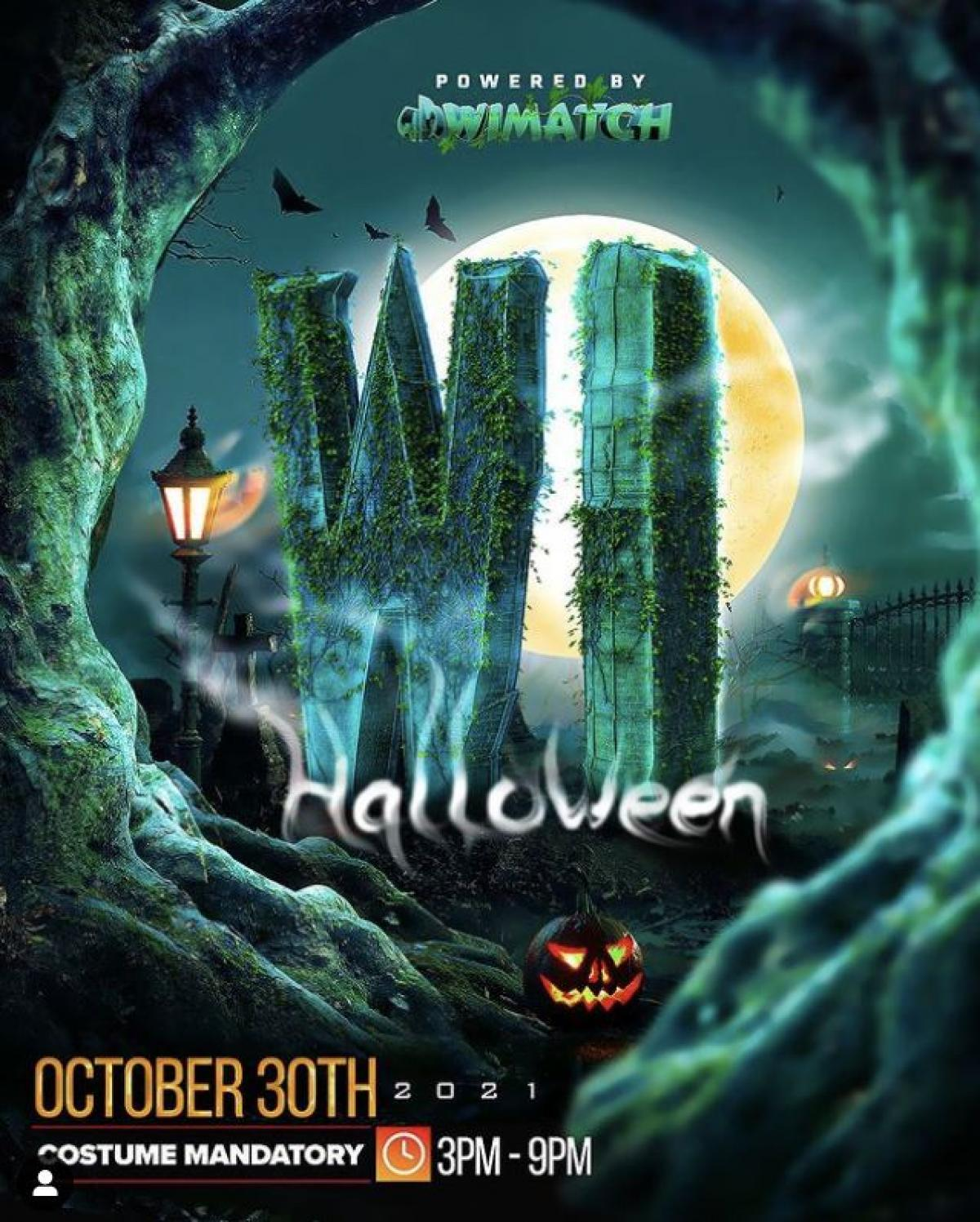 WiHalloween flyer or graphic.